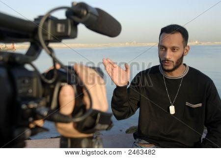 Cameraman And Host