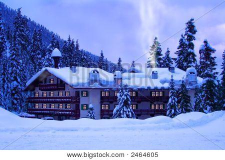 Hotel In Snow