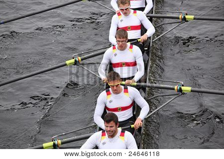 Deutscher Ruder Verband Germany races in the Head of Charles Regatta
