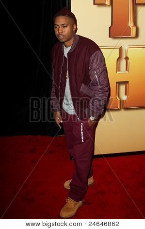 NEW YORK - OCTOBER 24: Nas attends the premiere of