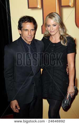 NEW YORK - OCTOBER 24: Ben Stiller and Christine Taylor attend the premiere of