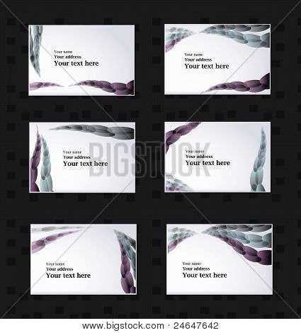 Violet Circle Lines Business Card