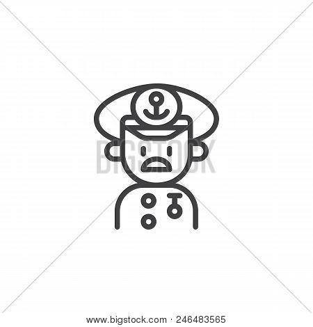 Sailor Captain Hat Vector & Photo (Free Trial) | Bigstock