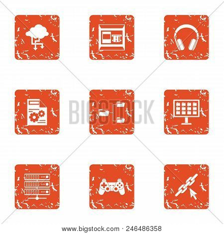 Date Advice Icons Set. Grunge Set Of 9 Date Advice Vector Icons For Web Isolated On White Background