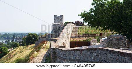 Belgrade Fortress Ramparts And Danube River, Serbia