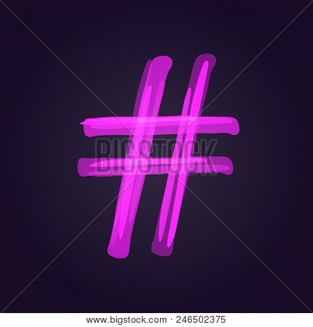 Hashtag Sign Banner. Number Symbol.  Element For Graphic Design - Blog, Social Media, Banner, Poster