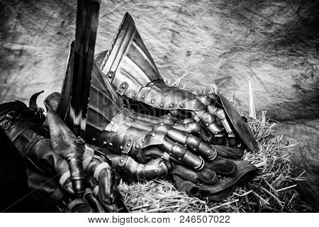 Medieval Armor Glove, Detail Of Protection, Ancient History