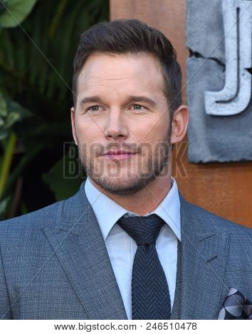 LOS ANGELES - JUN 12:  Chris Pratt arrives for the 'Jurassic World: Fallen Kingdom' Los Angeles Premiere on June 12, 2018 in Los Angeles, CA