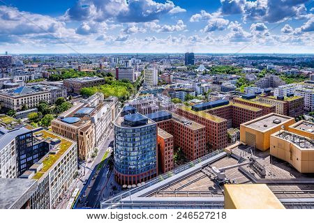 Panoramic View Of The City Center Of Berlin
