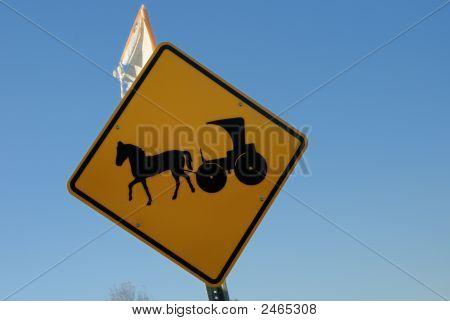 Amish Road Sign