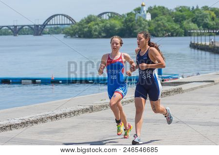 Dnipro, Ukraine - June 03, 2018:fourth (alevtina Stetsenko) And Fifth Place (hagar Cohen Kalif) Comp