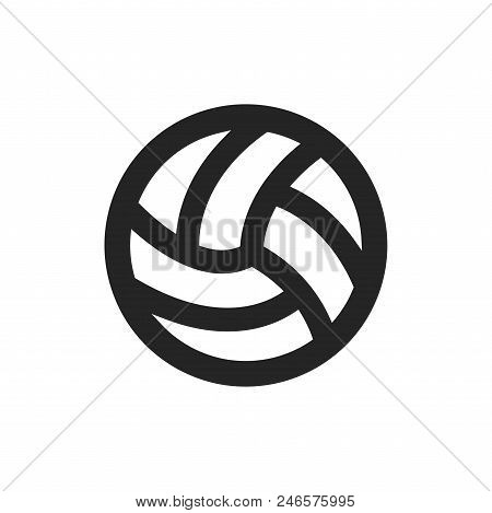 Volley Ball Icon Simple Vector Sign And Modern Symbol. Volley Ball Vector Icon Illustration, Editabl