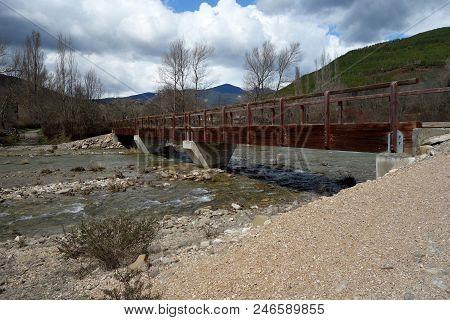 A Water Bridge In A Non-urban Scene Day.