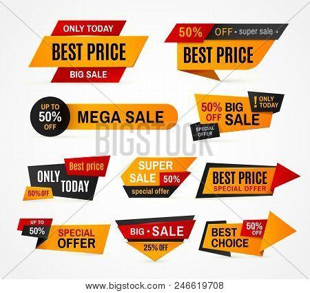 Exclusive Sale Supermarket Price Promo Tag Super Mega Big Sales Campaign Special Offer Discount Colo