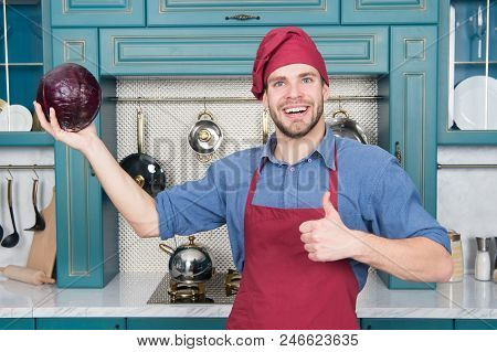 Cook In Good Mood. Relax Put On Some Music. Composed Cook Is More Efficient One. Man Chef Likes To C