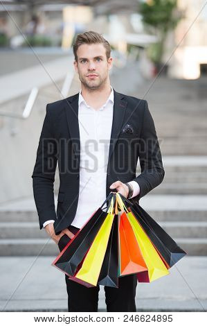 Shop Alone. People Find Shopping Partners More Akin Accomplices In Crime. Man Carry Shopping Bag. Gu
