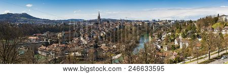 Bern, The Capital Of Switzerland. The Old Town Of Bern Is A Unesco World Heritage Site
