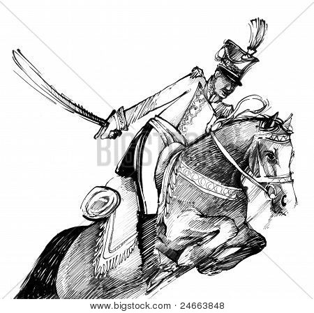 Hussar And Horse