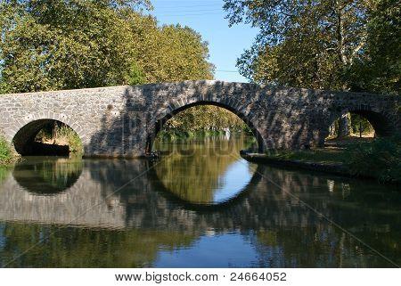 Old bridge over Canal du Midi