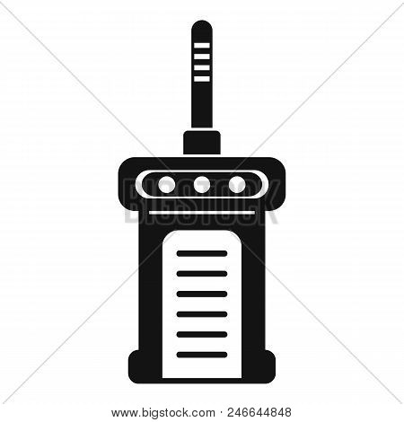Portable Radio Icon. Simple Illustration Of Portable Radio Vector Icon For Web Design Isolated On Wh