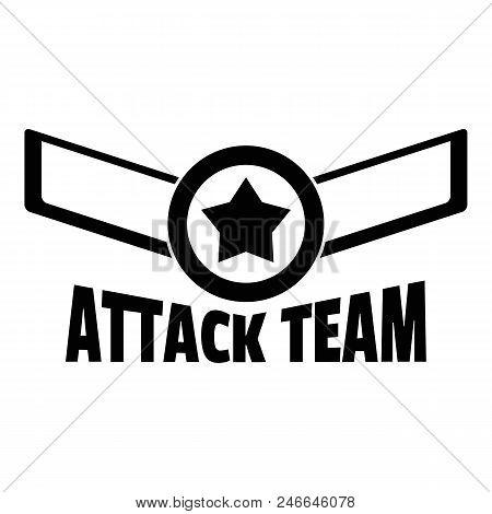 Attack Star Team Logo. Simple Illustration Of Attack Star Team Vector Logo For Web Design Isolated O