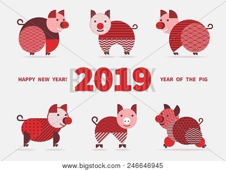Pig Symbol 2019 Vector & Photo (Free Trial) | Bigstock