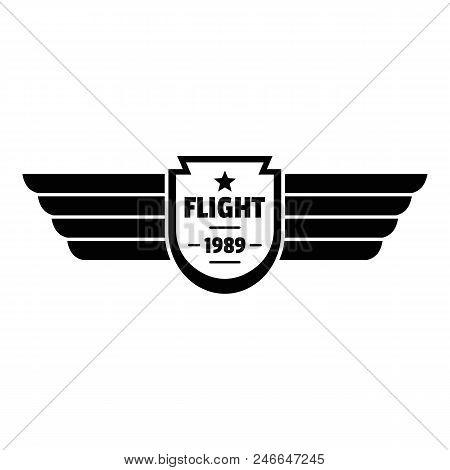 Flight 1989 Logo. Simple Illustration Of Flight 1989 Vector Logo For Web Design Isolated On White Ba