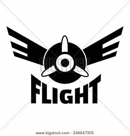 Air Flight Logo. Simple Illustration Of Air Flight Vector Logo For Web Design Isolated On White Back