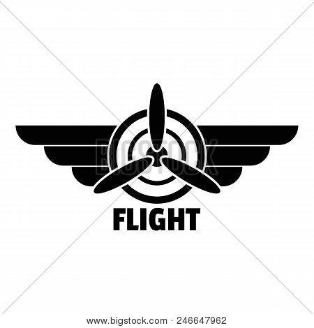 Flight Logo. Simple Illustration Of Flight Vector Logo For Web Design Isolated On White Background