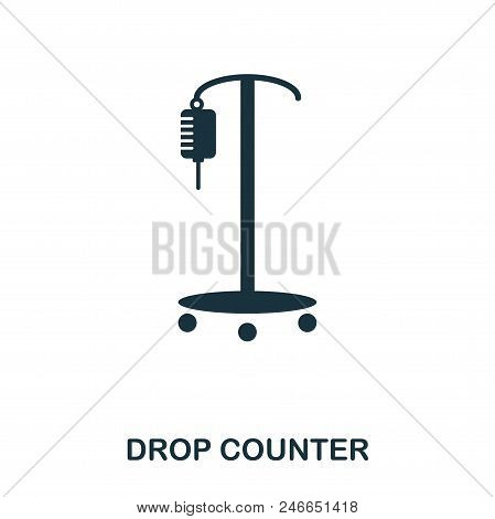 Drop Counter Icon. Line Style Icon Design. Ui. Illustration Of Drop Counter Icon. Pictogram Isolated