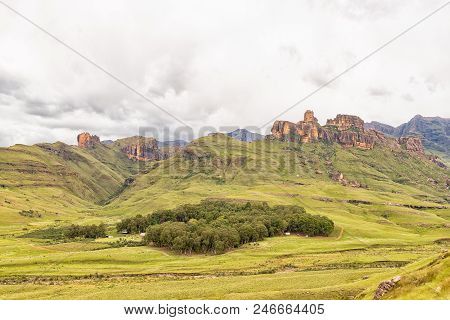 Garden Castle, South Africa - March 25, 2018: Hermits Wood Camp At Garden Castle In The Kwazulu-nata
