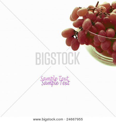 red grape and white isolated background