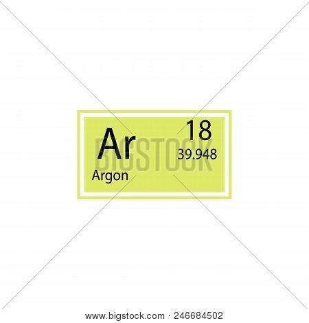 Periodic Table Element Argon Icon. Element Of Chemical Sign Icon. Premium Quality Graphic Design Ico