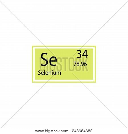 Periodic table vector photo free trial bigstock periodic table element selenium icon element of chemical sign icon premium quality graphic design urtaz Image collections