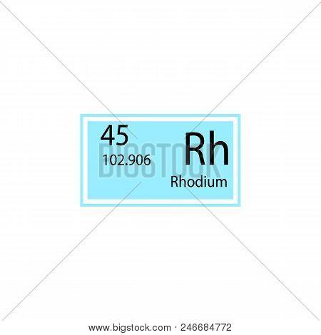Periodic Table Element Rhodium Icon. Element Of Chemical Sign Icon. Premium Quality Graphic Design I