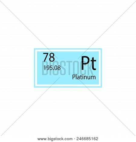 Periodic table element platinum icon. Element of chemical sign icon. Premium quality graphic design icon. Signs and symbols collection icon for websites, web design, mobile app on white background poster