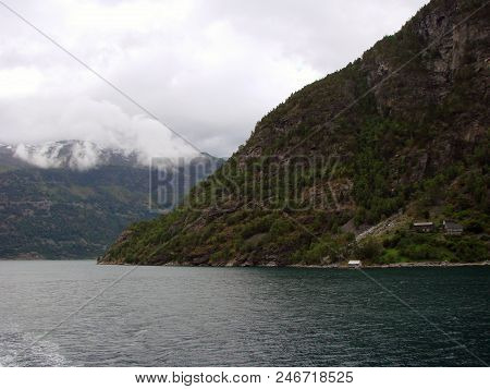 View Of The Nearoy Fjord And Cloud, Norway