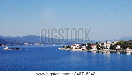 Croatia, Southern Dalmatia. View Of The Coast