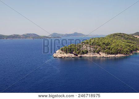 View Of The Island. Of The Croatia, Southern Dalmatia