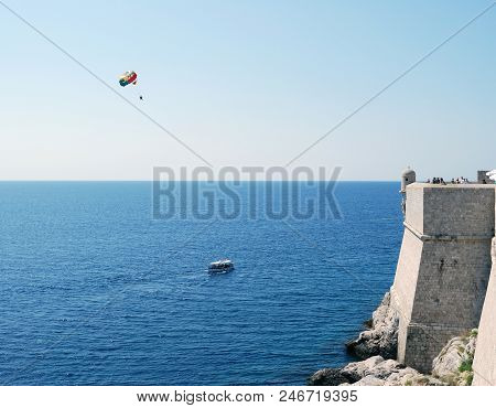 View Of The Sea. Croatia, Southern Dalmatia, Dubrovnik