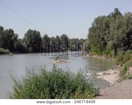 River Katun Before The Confluence Of The River Ob, Altai Region, Russia