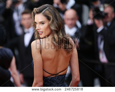 CANNES, FRANCE. May 15, 2018: Alessandra Ambrosio at the gala screening for