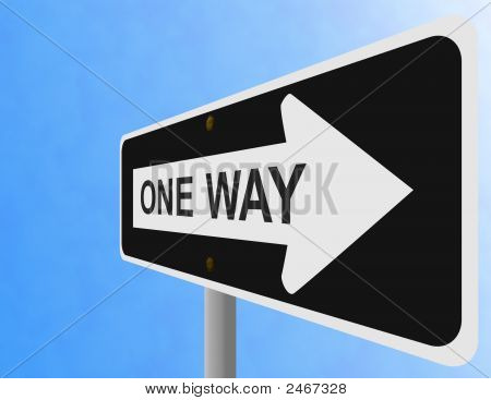 One Way Sign Perspective