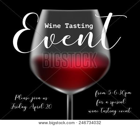 Wine Tasting Event Vector Photo Free Trial Bigstock - Wine tasting event flyer template free