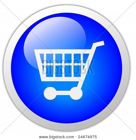 Shopping Cart Icon Button