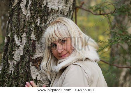 girl in birch