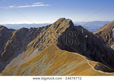 Tri Kopy Peak in the Western Tatras (Rohace) poster