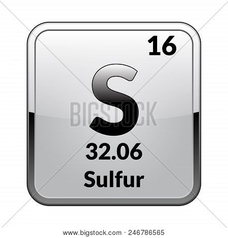 Sulfur symbol vector photo free trial bigstock sulfur symbolemical element of the periodic table on a glossy white background in a silver framector illustration urtaz Gallery