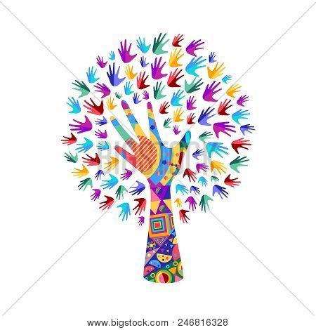 Tree Symbol Colorful Vector Photo Free Trial Bigstock