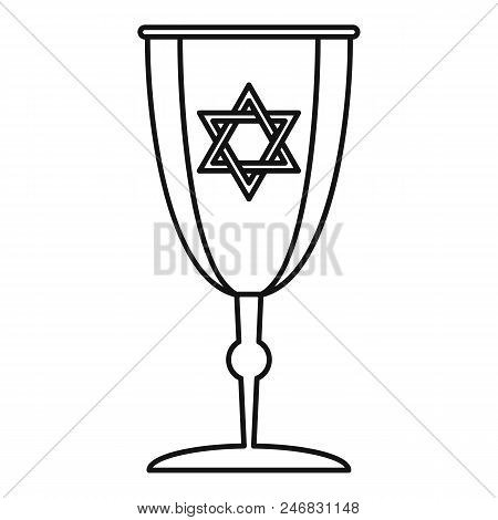 Judaism cup icon. Outline illustration of judaism cup vector icon for web design isolated on white background poster
